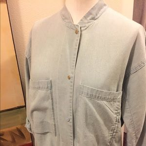 ZARA denim shirt/jacket!  Snap buttons light wash